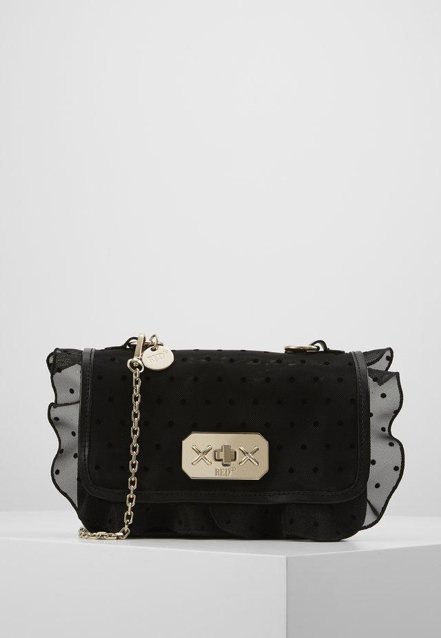 ROCK RUFFLE DOTTY SHOULDER - Handbag - black