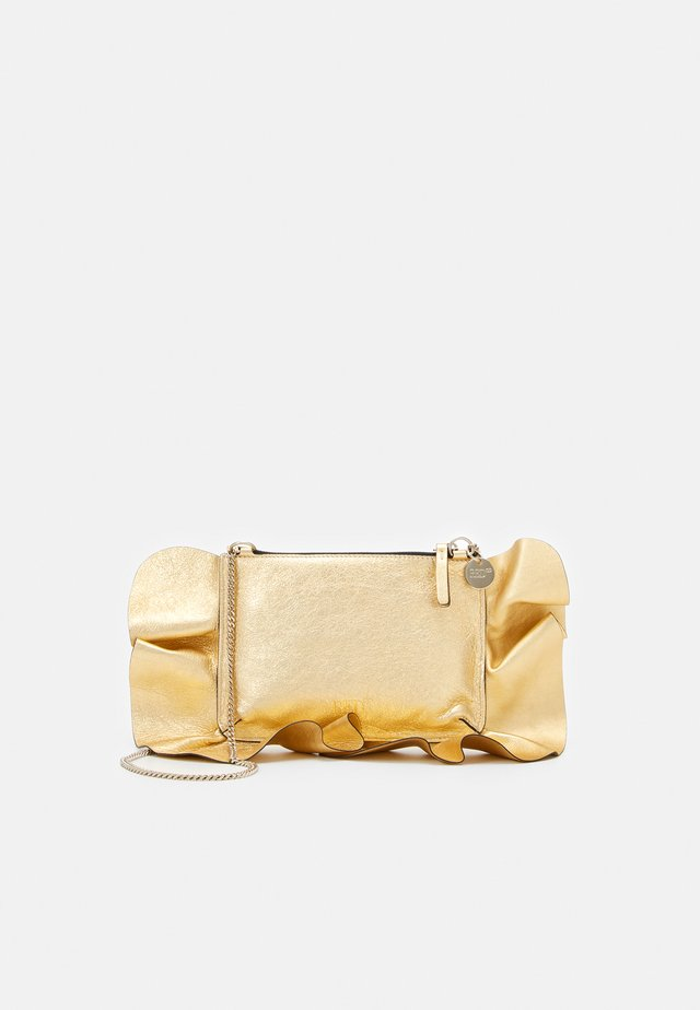 ROCK RUFFLES POUCHETTE CHAIN - Across body bag - oro