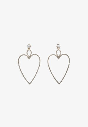 BIG HEART EARRINGS - Earrings - gold-coloured