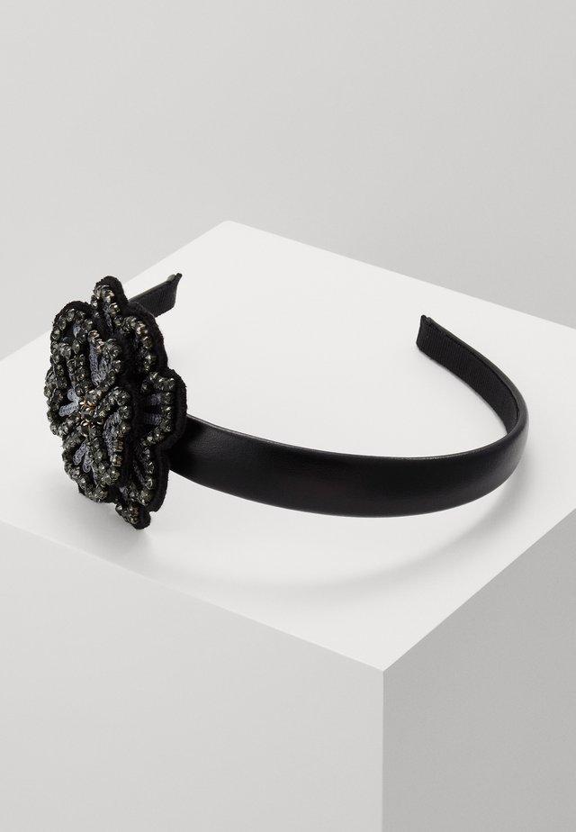 FLORAL HEADBAND SKINNY - Příslušenství kvlasovému stylingu - black