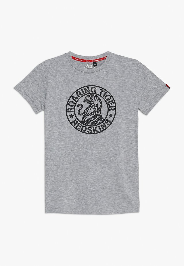 SALINAS - T-shirt med print - grey melange