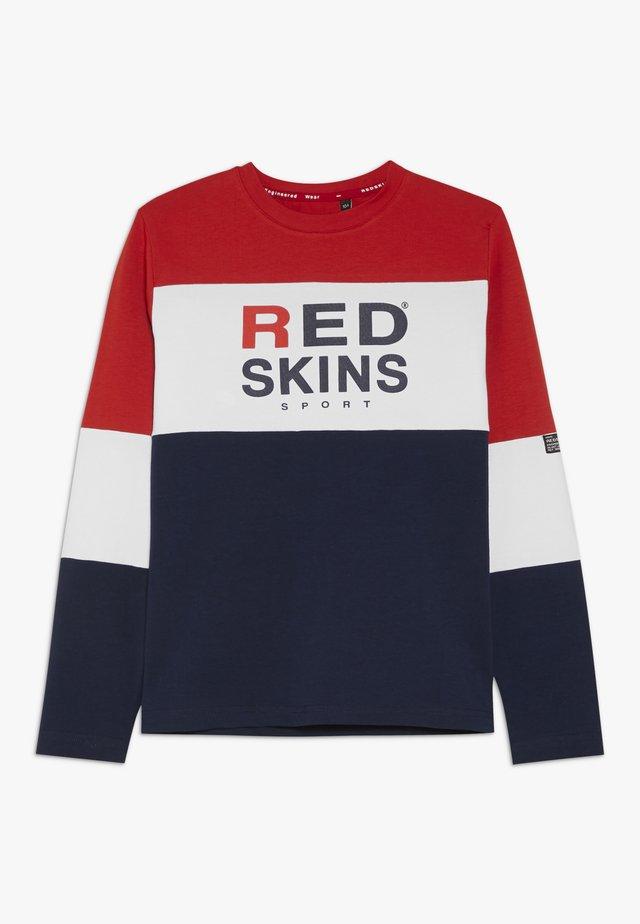 EWAN - Långärmad tröja - red/navy