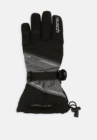 Reusch - DEMI R TEX® XT - Gants - black/grey melange/silver - 1