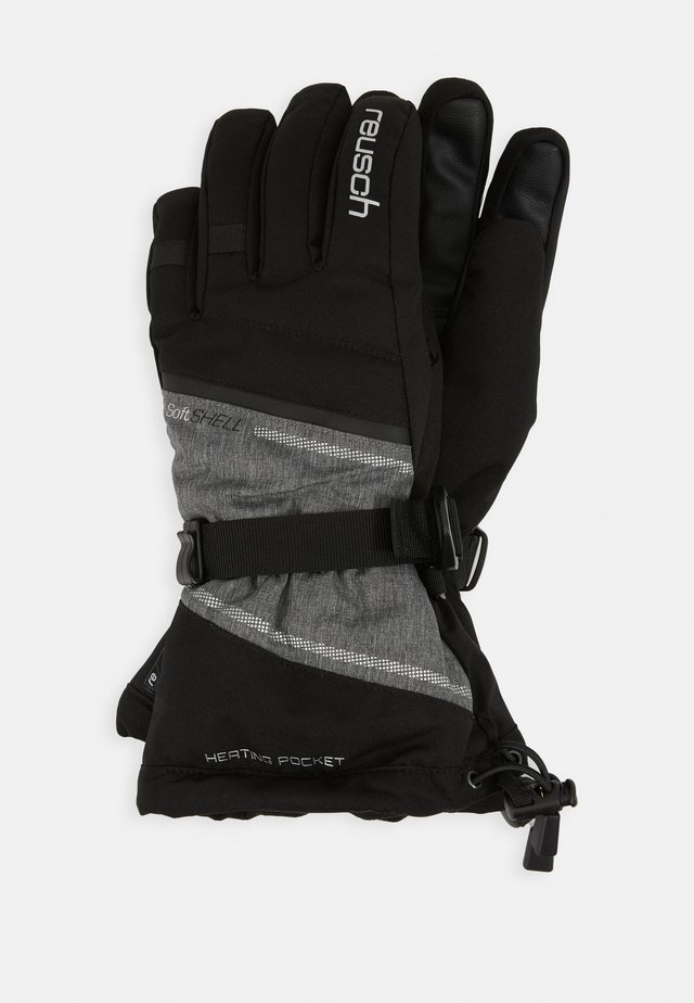 DEMI R TEX® XT - Gloves - black/grey melange/silver