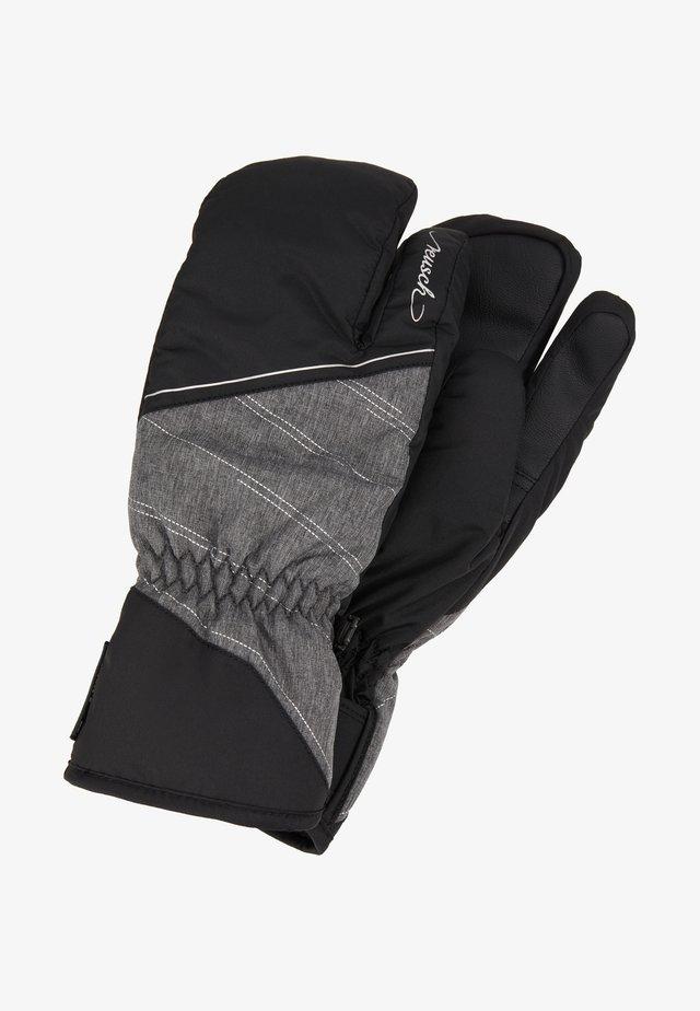 BRIANNA RTEX® LOBSTER - Mittens - black/grey melange/silver