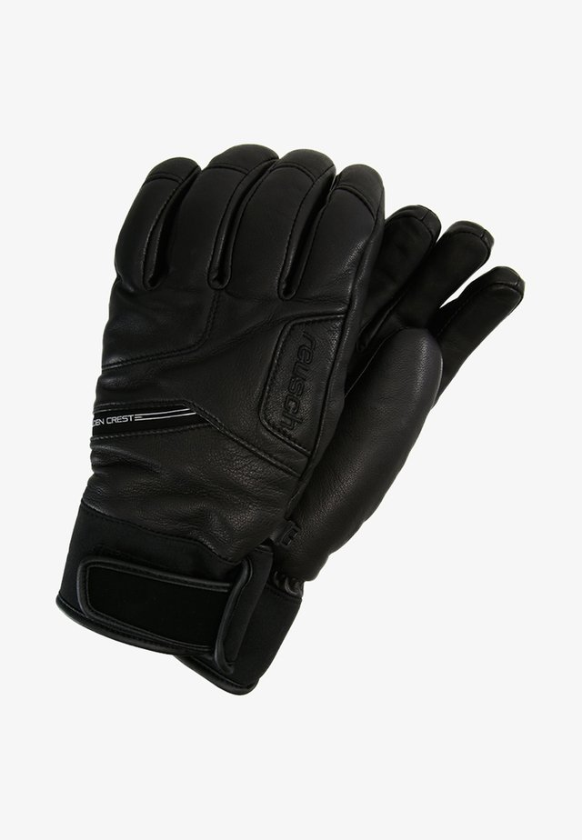 GOLDEN CREST - Fingerhandschuh - black