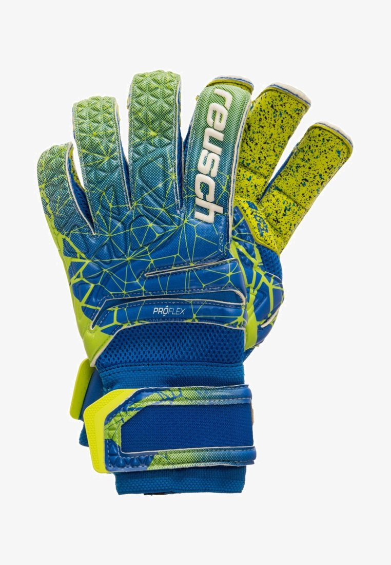 Reusch - FIT CONTROL DELUXE G3 FUSION EVOLUTION - Rękawice bramkarskie - blue/lime