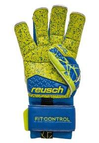 Reusch - FIT CONTROL DELUXE G3 FUSION EVOLUTION - Gants de gardien de but - blue/lime - 2