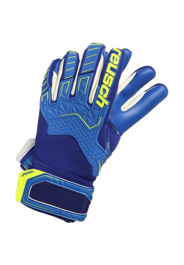 ATTRAKT FREEGEL G3  - Goalkeeping gloves - deep blue / safety yellow