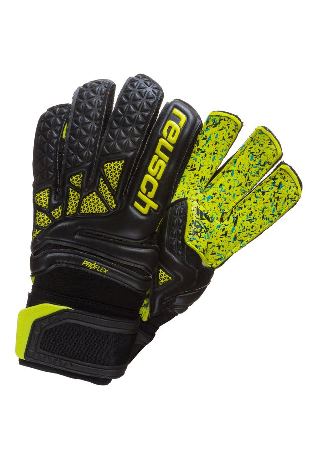 Gants - black / lime green
