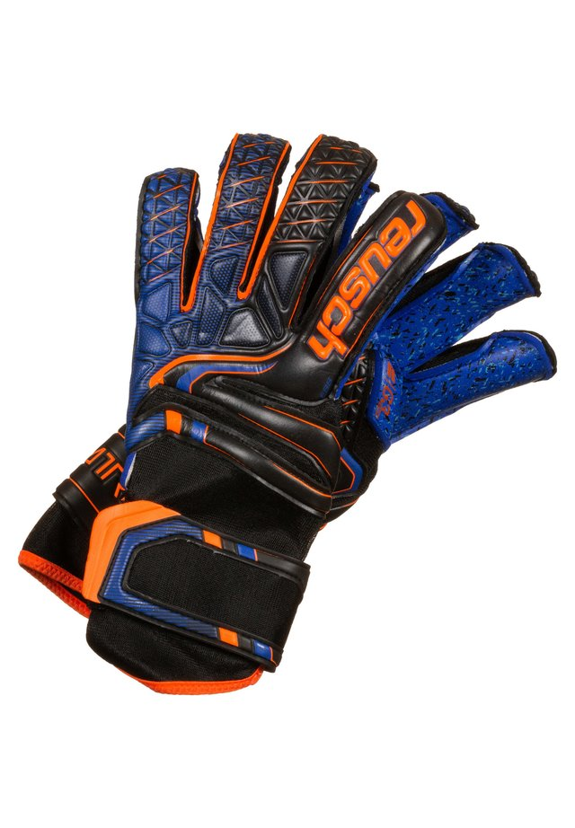 Gants - black/ shocking orange / deep blue
