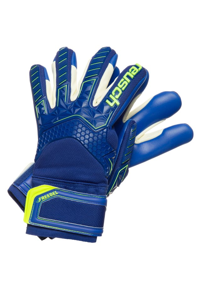Handschoenen - deep blue / safety yellow