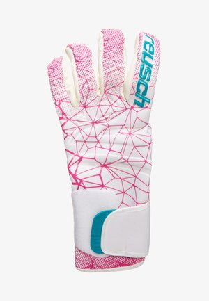 Gloves - white / magenta