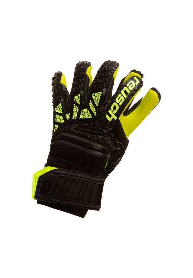 Gloves - black / lime green