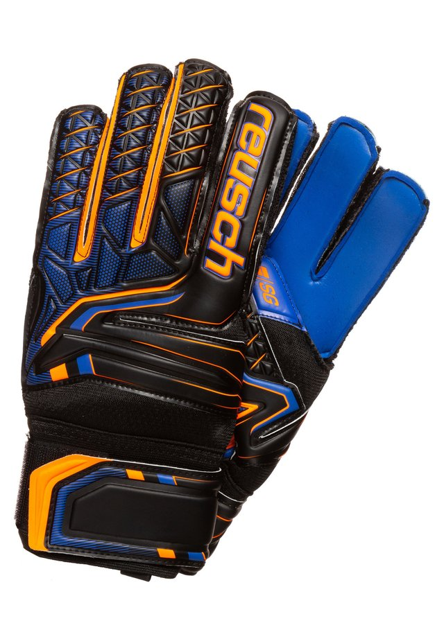 Gants de gardien de but - black/shocking orange/deep blue