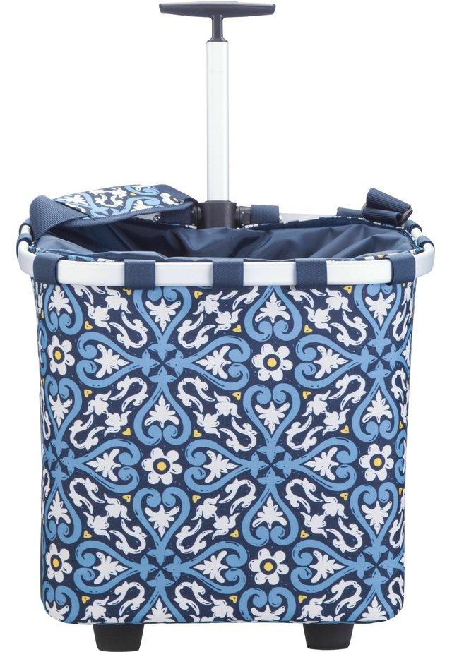 Wheeled suitcase - mottled blue