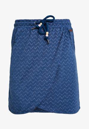 NAILA - Mini skirt - denim blue
