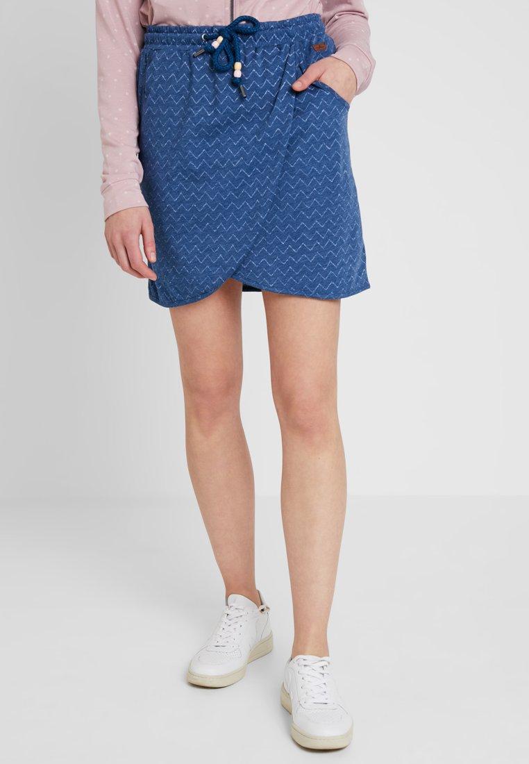 Ragwear - NAILA - Minifalda - denim blue