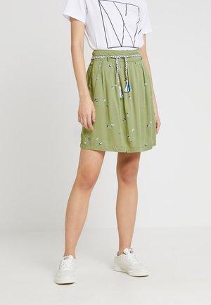 DEBBIE PRINT - Áčková sukně - light olive