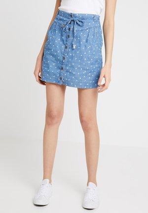 NINA - Denim skirt - blue