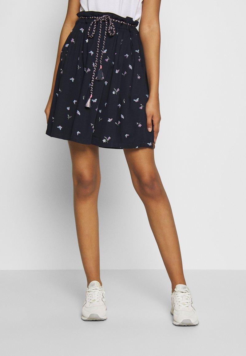 Ragwear - DEBBIE BUTTERFLIES - A-line skirt - navy