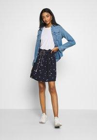 Ragwear - DEBBIE BUTTERFLIES - A-line skirt - navy - 1