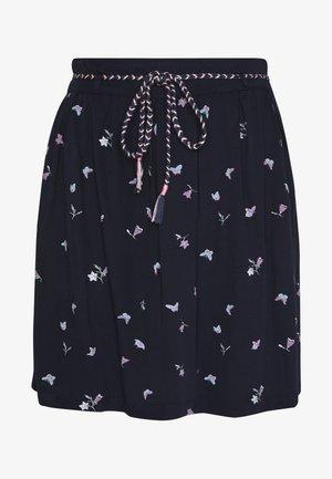 DEBBIE BUTTERFLIES - A-line skirt - navy