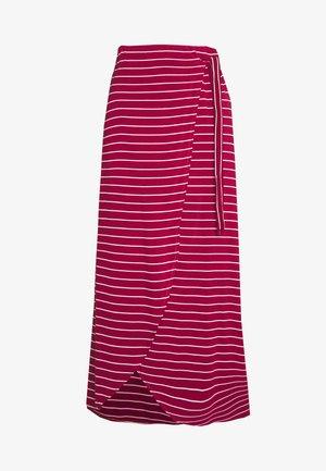 ADELKA - Wrap skirt - red