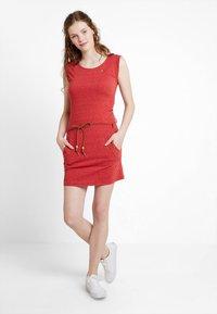 Ragwear - TAG - Žerzejové šaty - coral - 1