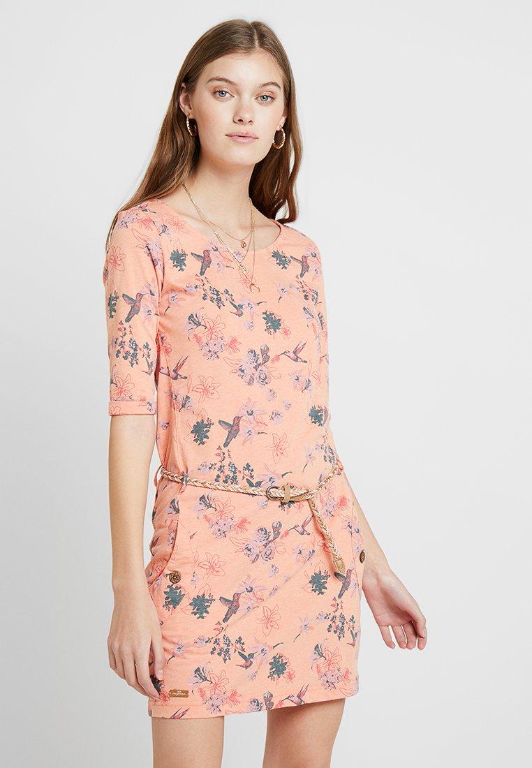 Ragwear - TANYA FLOWERS E - Vestito di maglina - apricot