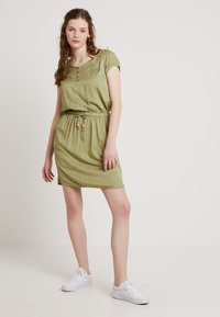 Ragwear - DANILA - Skjortekjole - light olive - 1