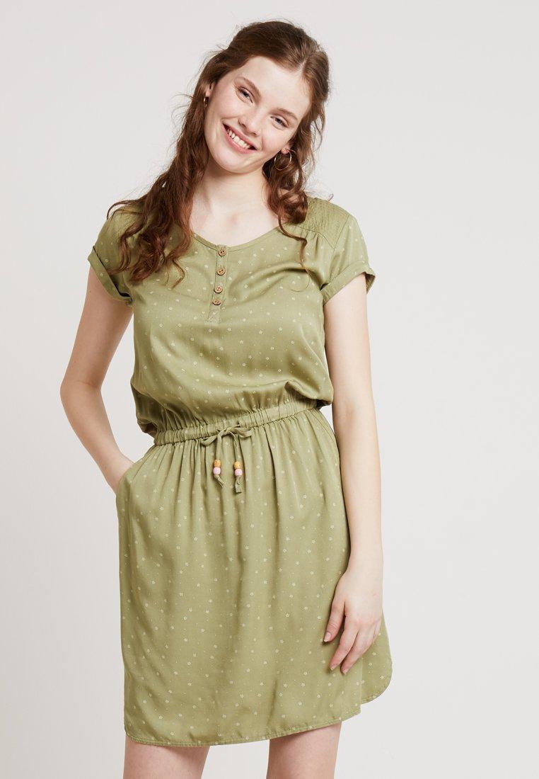 Ragwear - DANILA - Skjortekjole - light olive