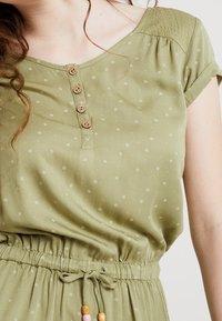 Ragwear - DANILA - Skjortekjole - light olive - 3