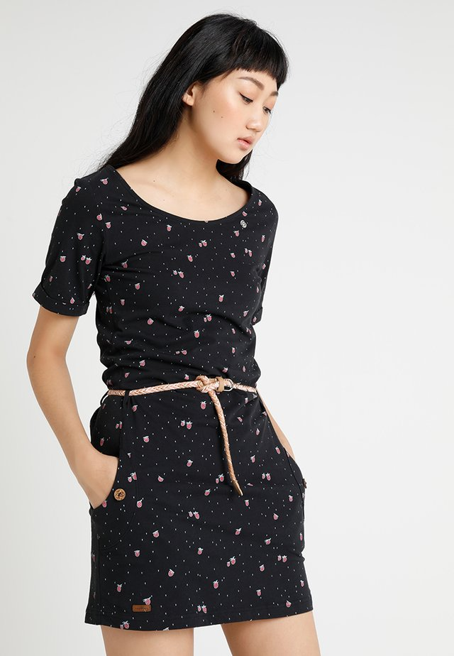 TANYA - Jerseykleid - black