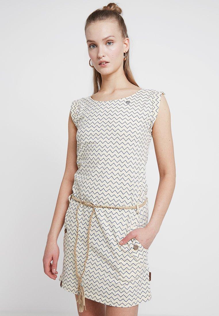 Ragwear - TAG ZIG ZAG - Žerzejové šaty - vanilla