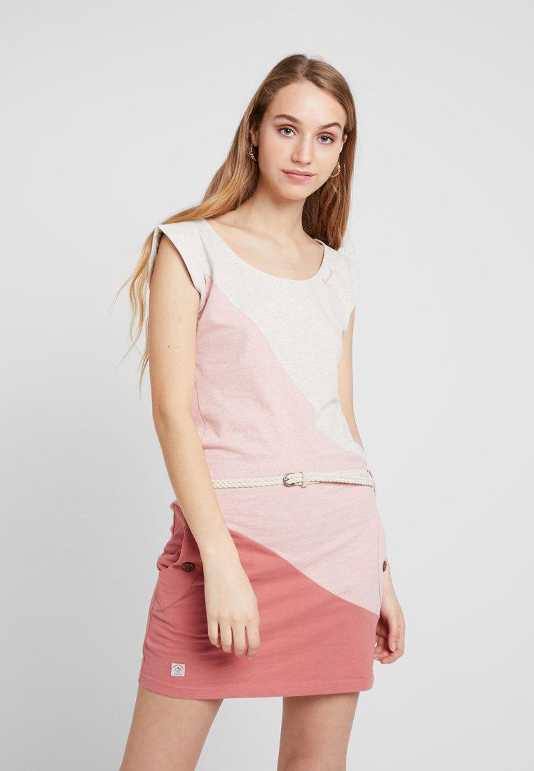 Ragwear - TAG BLOCK ORGANIC - Jerseykleid - light red