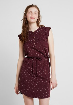 ZOFKA DRESS ORGANIC - Jerseykjole - wine red