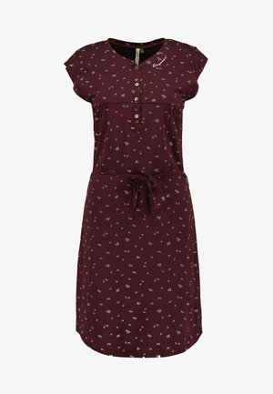 ZOFKA DRESS ORGANIC - Robe en jersey - wine red