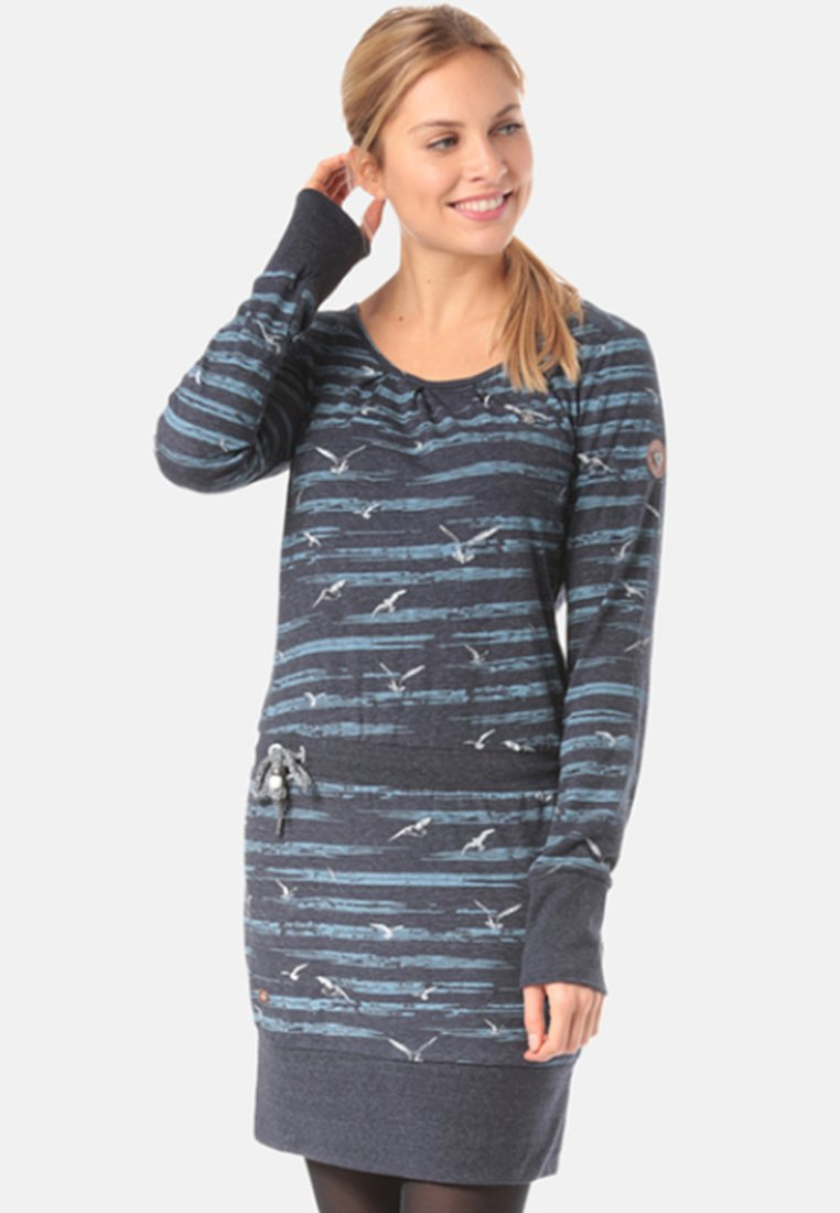 Ragwear - ALEXA SEAGULLS - Jersey dress - blue