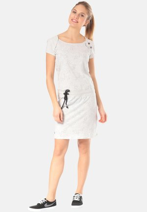 MIKE - Jersey dress - white