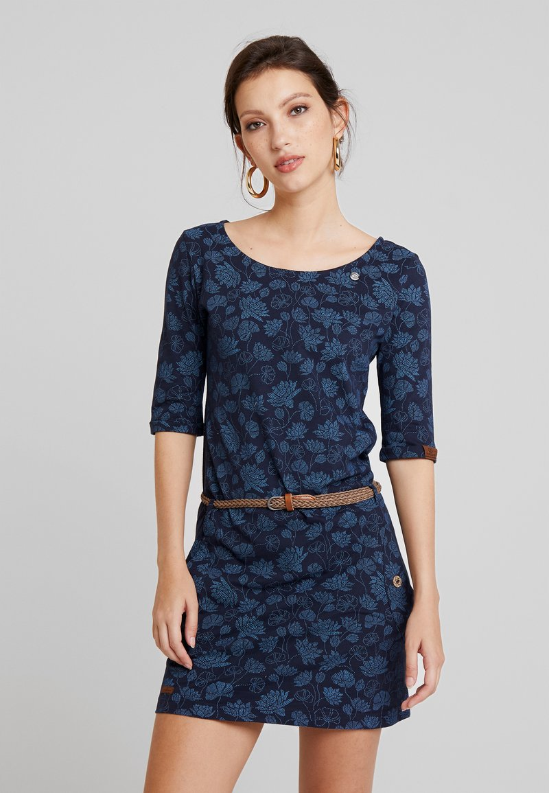 Ragwear - TANYA FLOWERS - Jersey dress - navy