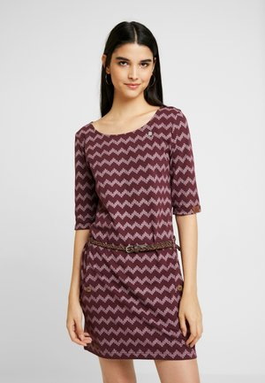 TANYA ZIG ZAG - Jersey dress - wine red