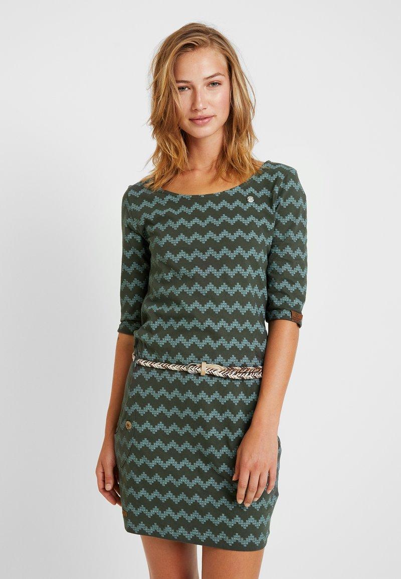 Ragwear - TANYA ZIG ZAG - Jerseykleid - green
