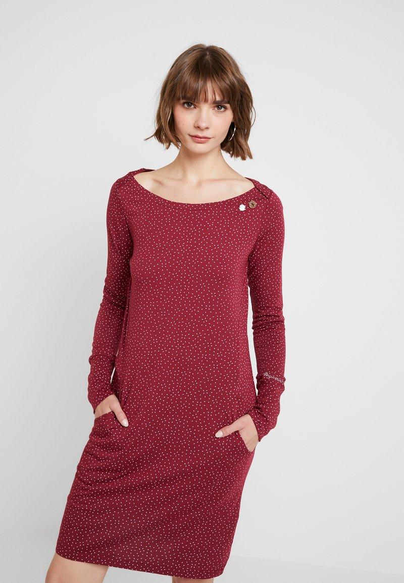 Ragwear - Jerseyklänning - wine red