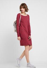 Ragwear - Jerseyklänning - wine red - 1