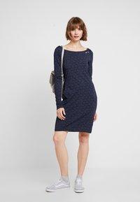 Ragwear - Jerseyklänning - navy - 1