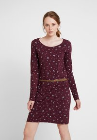 Ragwear - MONTANA - Shift dress - wine red - 0