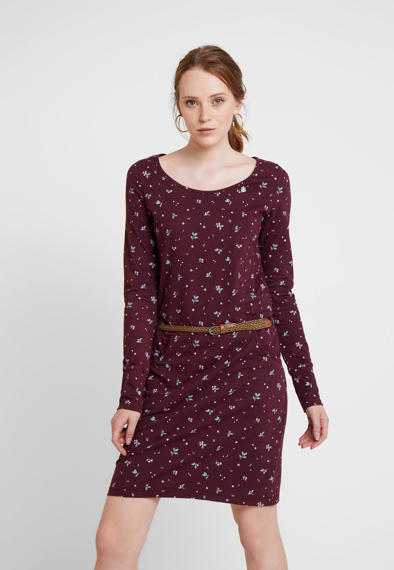 Ragwear - MONTANA - Shift dress - wine red