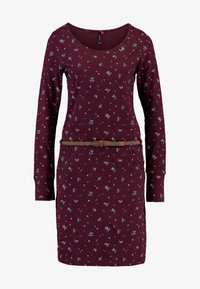 Ragwear - MONTANA - Shift dress - wine red - 5