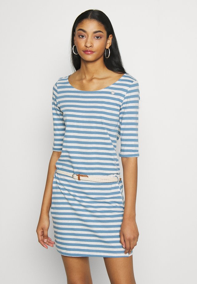 TAMY ORGANIC - Jersey dress - blue